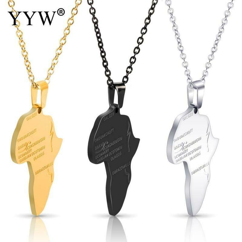 Africa Necklace Pendant-Chain Ethiopian Jewelry Gift Gold-Color Wholesale Men/women Trendy