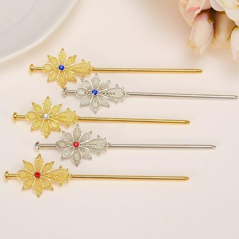 Combs Hairpin Ethiopian Hair-Sticks/habasha Jewelry Gold-Color Africa Bangrui