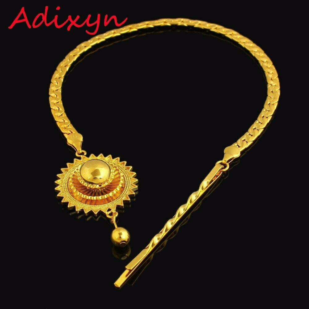 Jewelry Ethiopian Habesha Eritrea/kenya Hair-Chain 24k-Gold-Color Women Party-Accessories