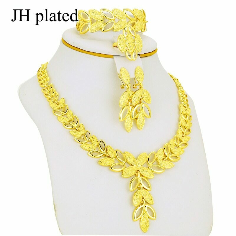 Jewelry-Sets Ring/bracelet Gifts-Set Gold-Color Women