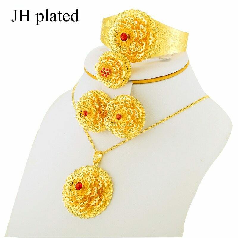 Jewelry-Set Habesha Ethiopian African Bride Pendent/ring Wedding Women Jhplated New