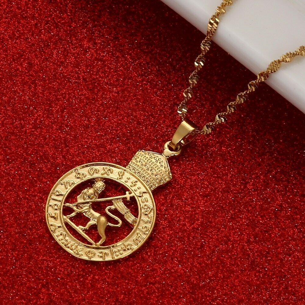 Jewelry Ethiopian Arab Middle-Eastern Gold Nigeria Girl Mom Kenya Gifts Ghana Lion Wedding