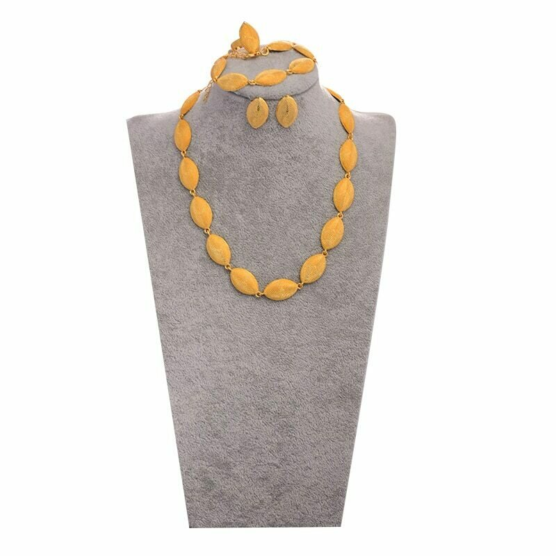 Jewelry-Set Ethiopian Dubai African Gifts Gold-Color Women WANDO for Islam Middle