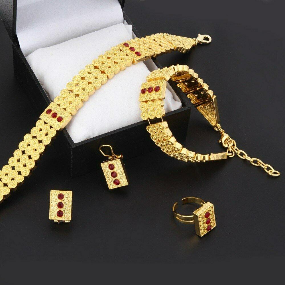 Earring-Ring-Sets Habesha-Set Necklace Jewelry Gold Bridal Bracelet Chokers Eritrea Africa