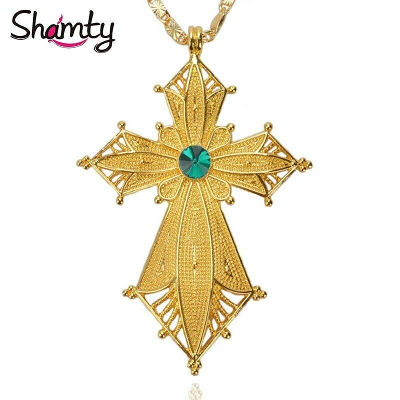 Pendant Necklace Ethiopian Green-Stone Sudan Kenya Shamty Jwelery Nigeria African Eritrea