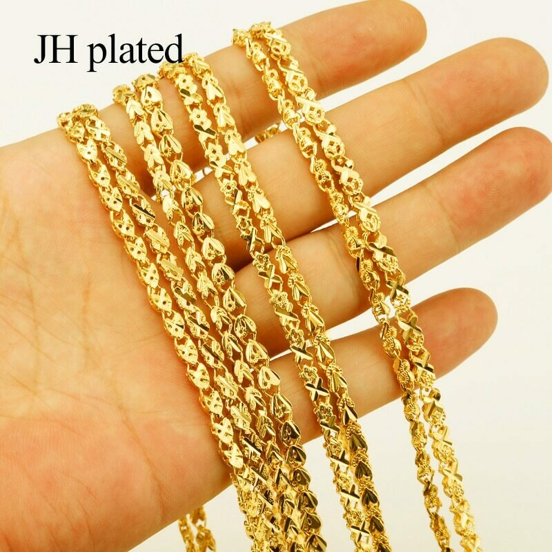 JHplated 60cm/8 Style Ethiopian Necklaces for Women Gold Color Africa Jewelry Jewelry