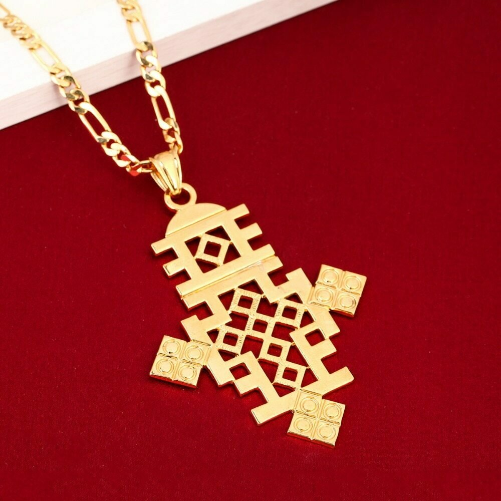 Pendant Ethiopian Eritrea-Coptic Big-Cross Jewelry Necklace-Size Crosses-Item Men Women
