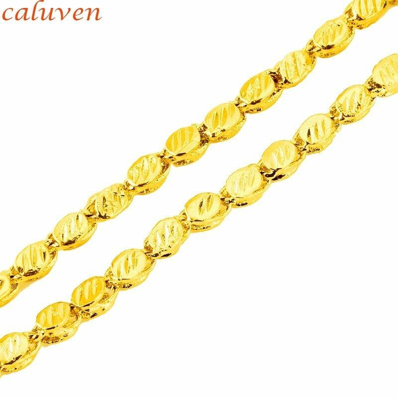 4.4MM/60CM Ethiopian Ethnic Chain Necklaces for Women/Men.Gold Color African Eritrea