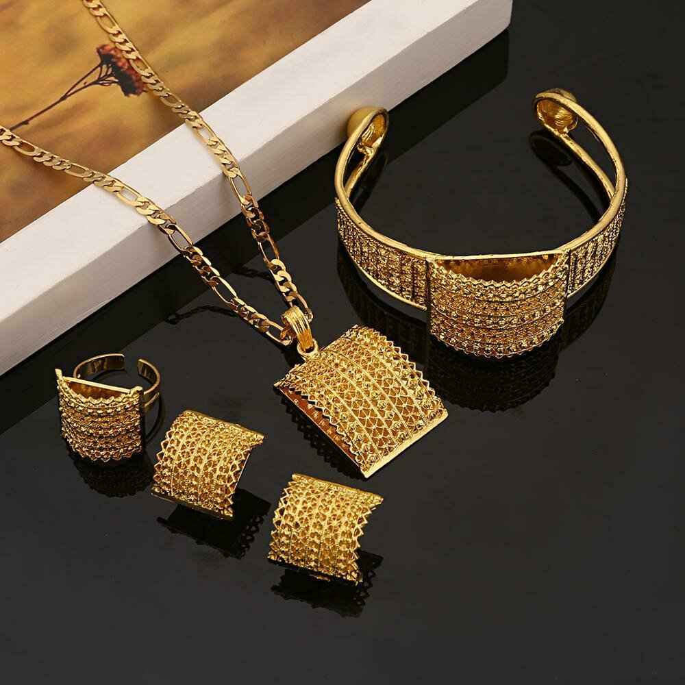 Fashion Jewelry Ethiopian African Gift Gold-Color Women for Best