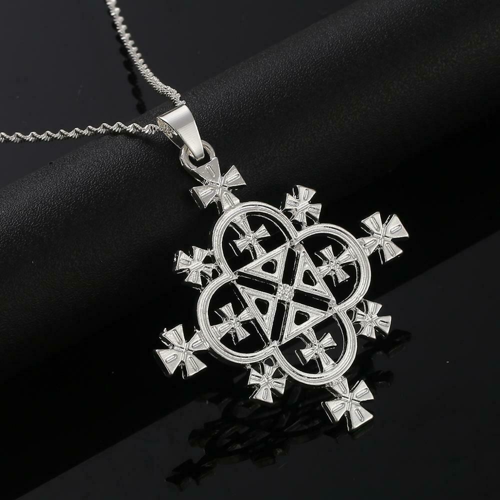 Necklace Women Ethiopian Cross-Pendants Jewelry Africa Fashion Eritrea-Habesha