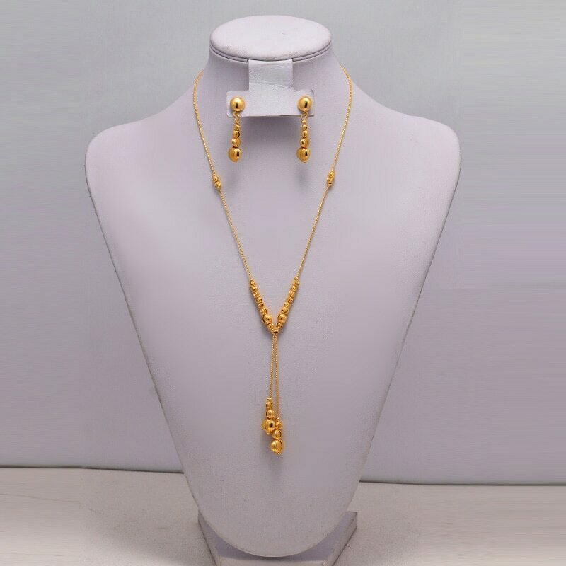 Necklace Earrings Jewelry-Sets Accessories Ethiopian Gold Wedding-Gift African Women