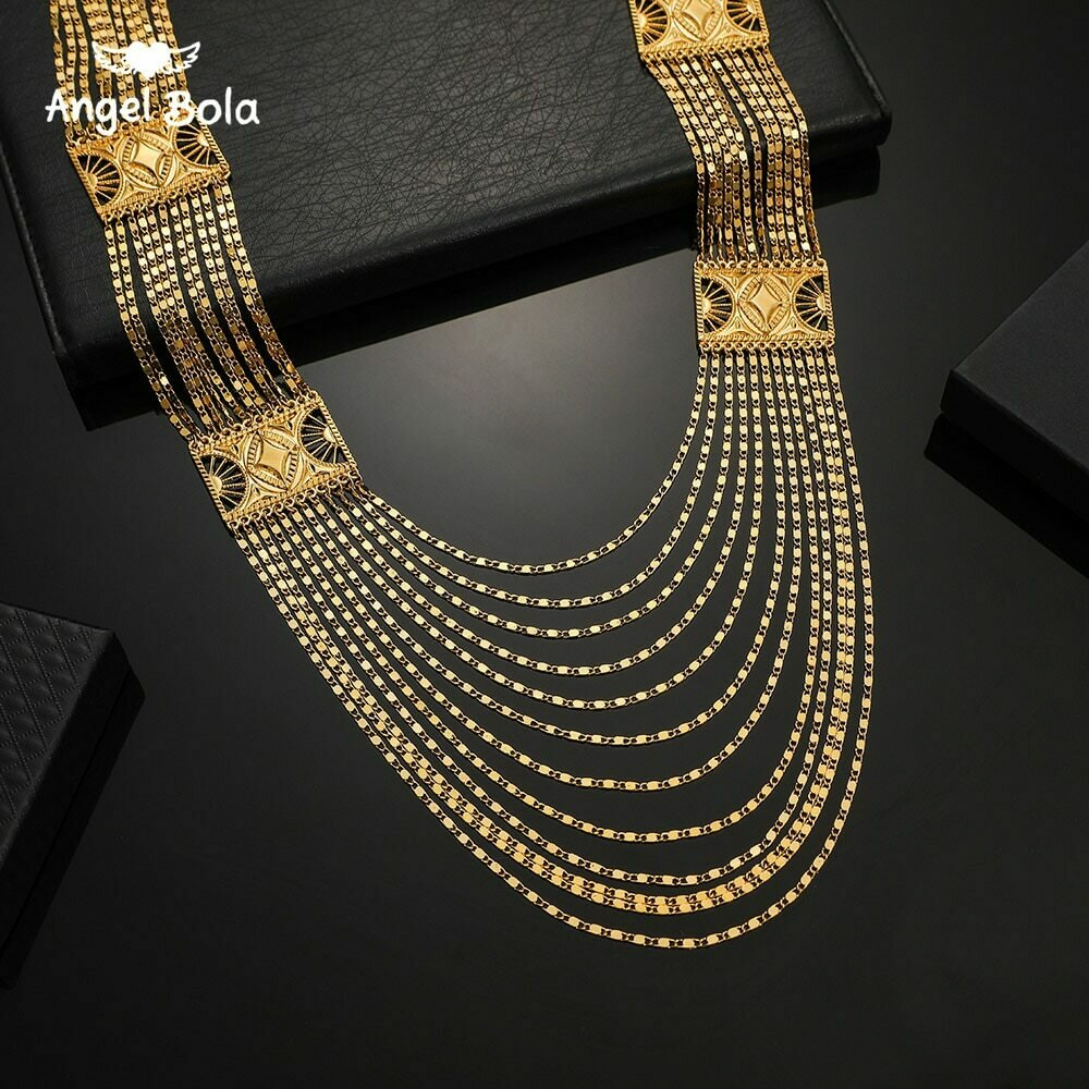 Ethiopian Jewelry Islamic Necklace Arab Allah Turkish-Middle-East Gold-Color Women Gifts