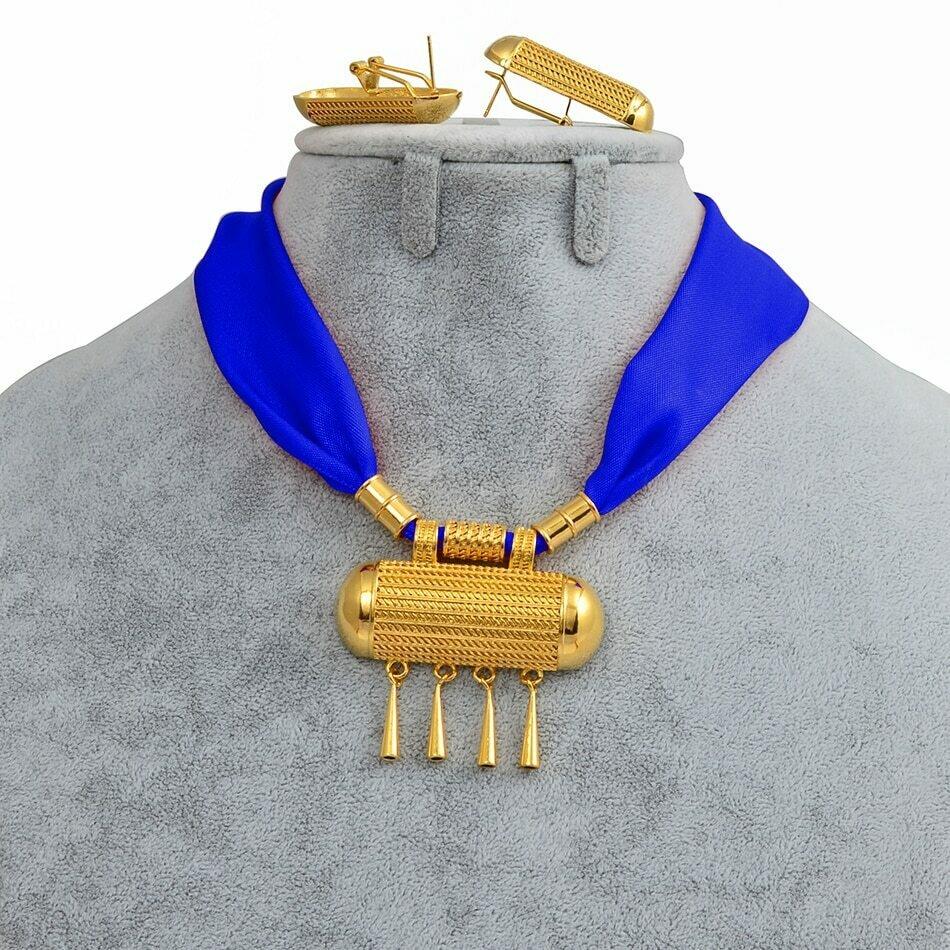 Earrings Necklaces Jewelry-Set Habesha Ethiopian Eritrea Gold-Color Anniyo And DIY -218006