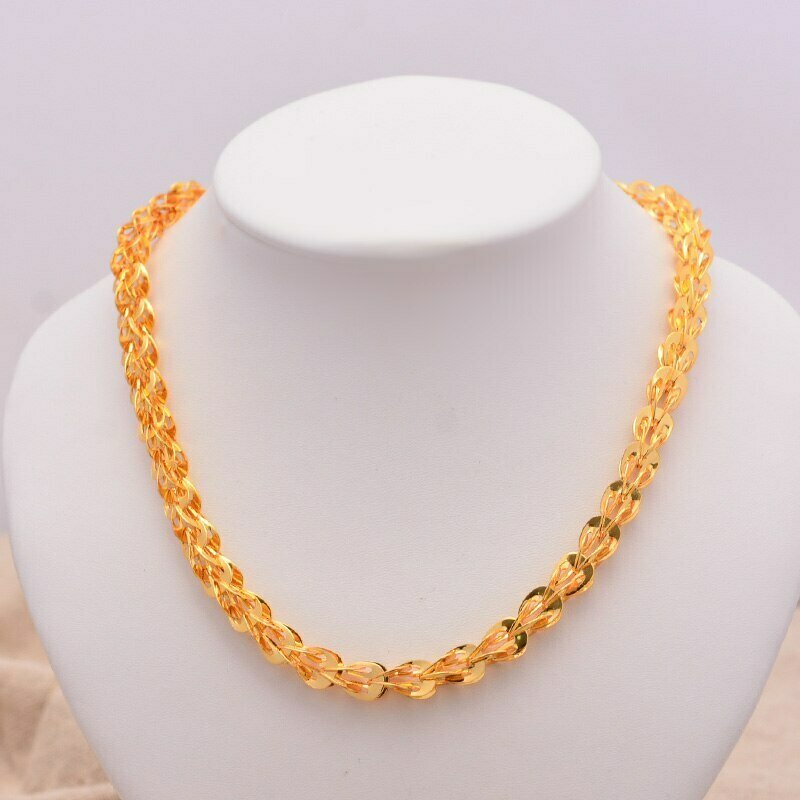 Africa Jewelry Ethiopian Tail-Necklace Eritrea-Chain Gold-Color Women Thin-Link Peacock