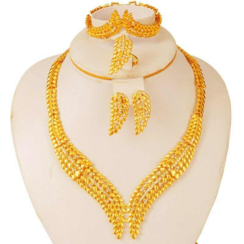 Jewelry-Set Earrings Dubai Gold Bridal-Party African Collares Ethiopian Gifts Wedding
