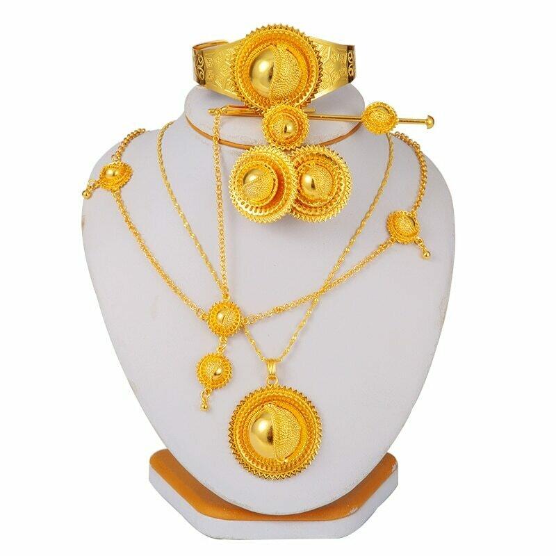 Jewelry-Sets Ethiopian Gold Dubai African Collares Wedding-Gift Bridal Women for Habesha