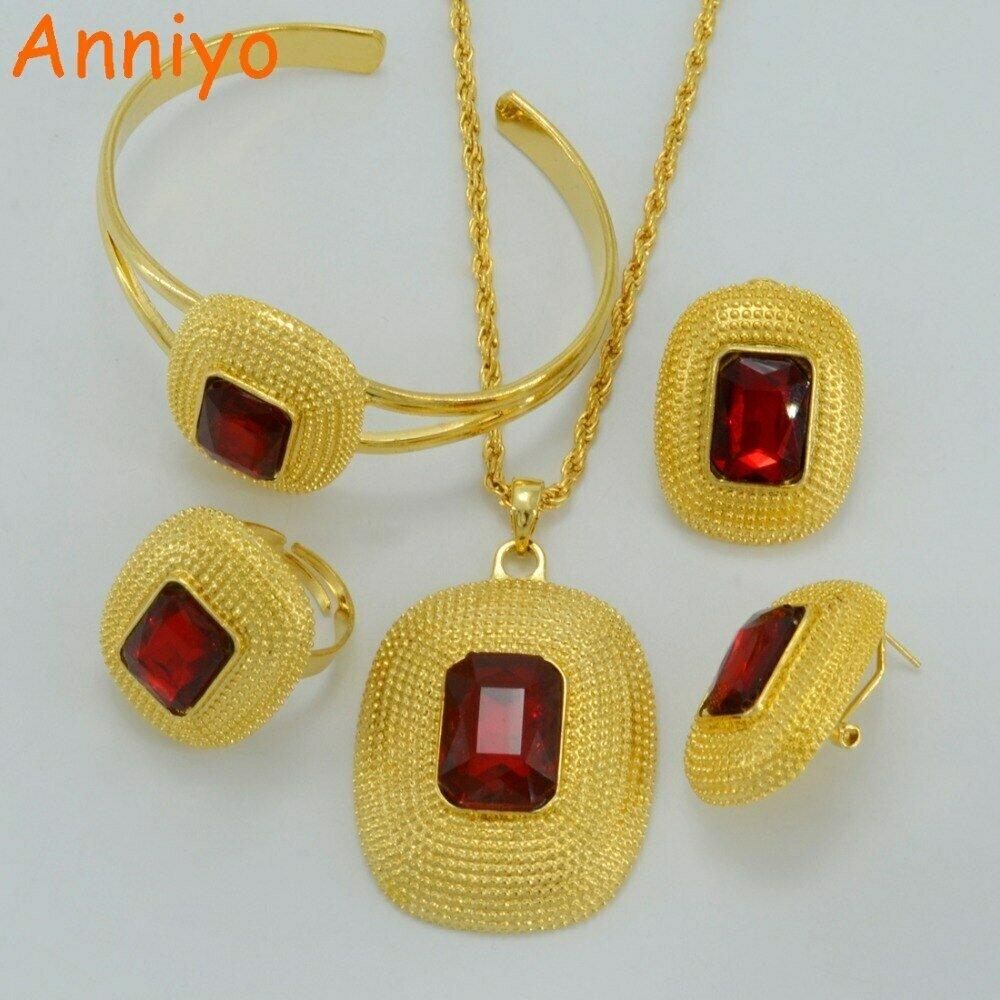 Jewelry-Sets Ethiopian Ring/bangle Anniyo Eritrea Gift Wedding-Habesha Bride Africa Gold-Color