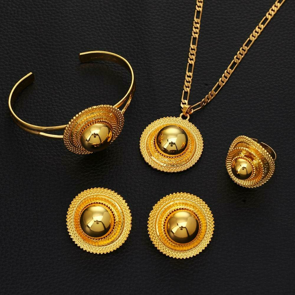 Jewelry-Sets Habesha Ethiopian Traditional Africa Wedding Gold-Color Women's Festival