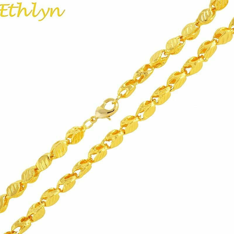 THICK Necklace Ethiopian Chain Africa Gold-Color Ethlyn 50cm-Width 3MM Eritrea-Chunky