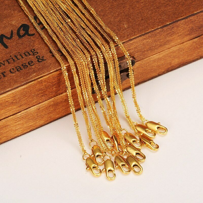 Chain Women Necklaces Africa-Jewelry Gold-Filled Wholesale Unisex Snack