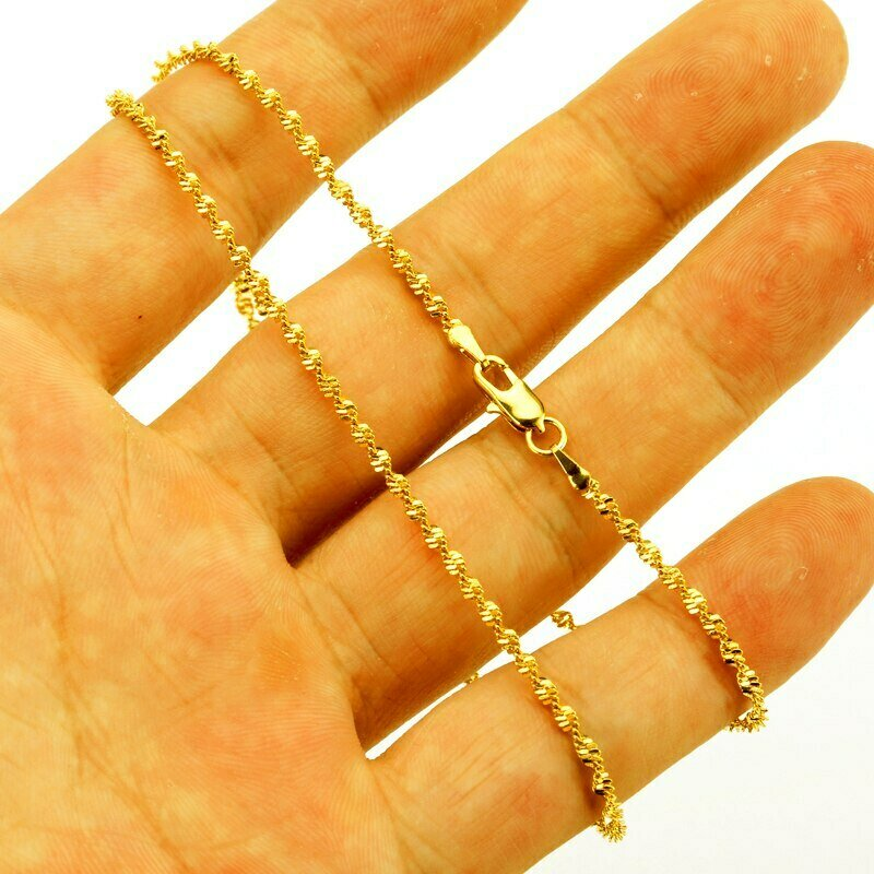 Chain Fashion Necklaces Wholesale Africa-Jewelry Gold-Color Women/men Jhplated