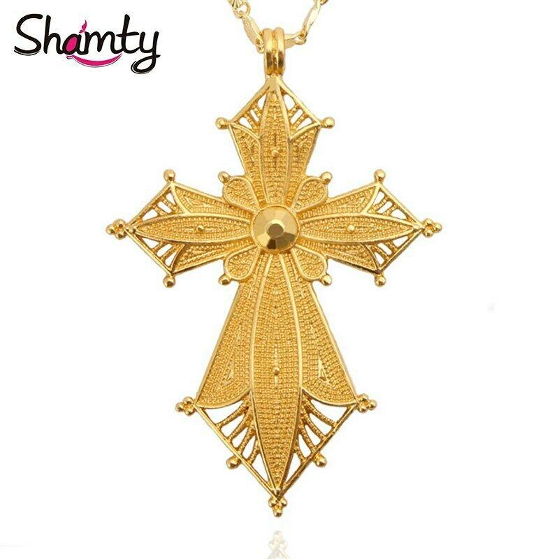 Pendant Necklace Shamty Jwelery No-Stone Nigeria African Eritrea Ethiopian Habesha-Style