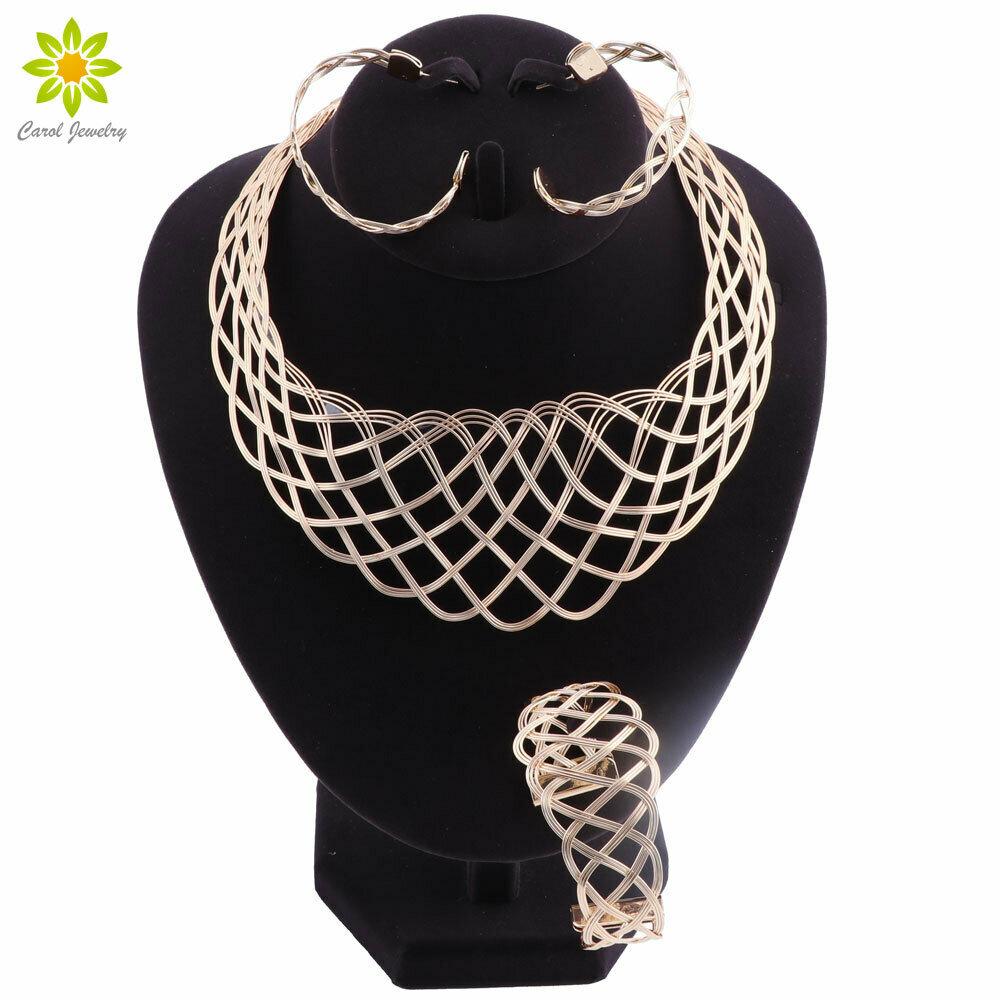 Necklace-Set Wedding-Jewelry-Sets Choker African Beads Bridal-Dubai Nigerian Ethiopian