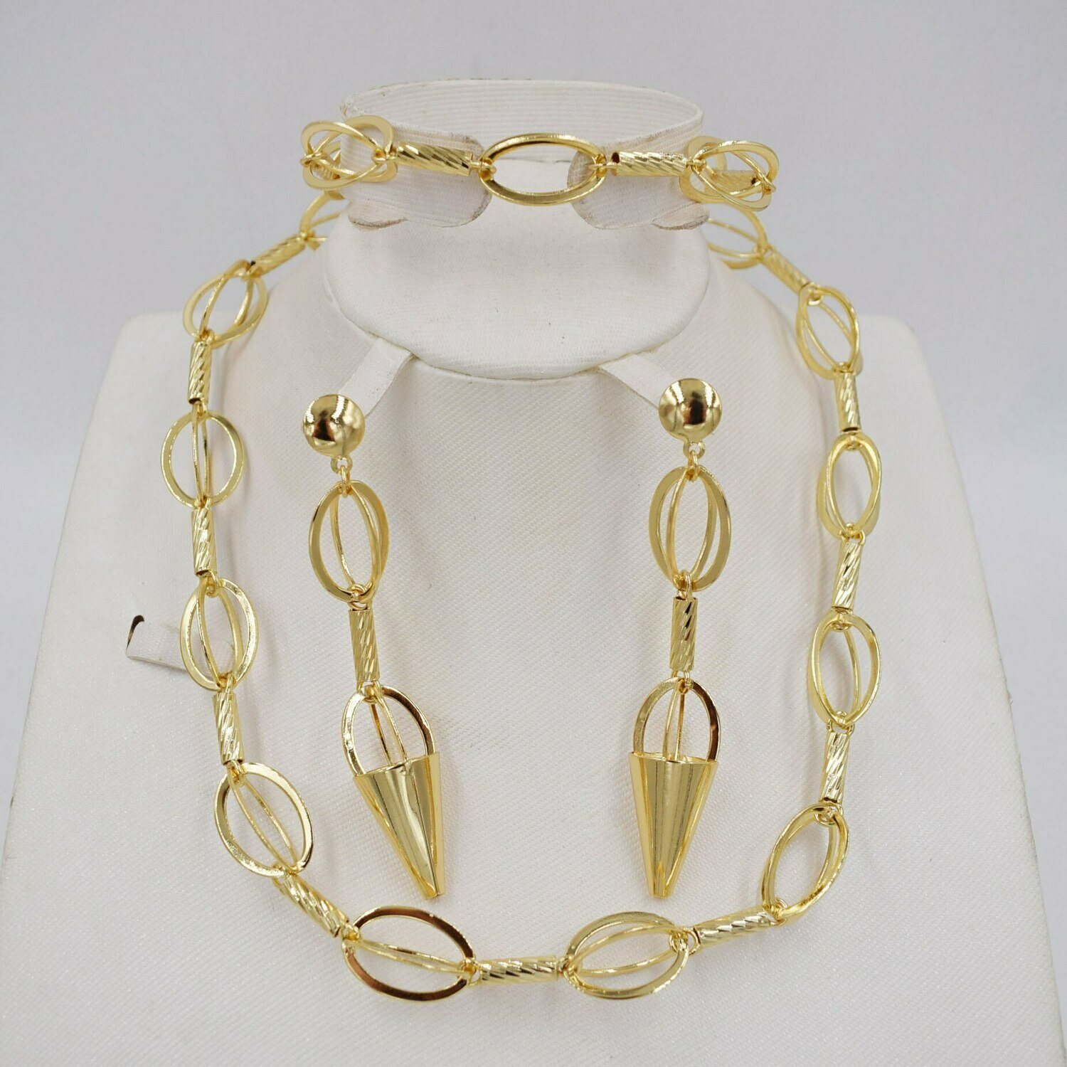Jewelry-Set Earring Jewlery African Beads High-Quality Italy Gold-Color Women Fashion