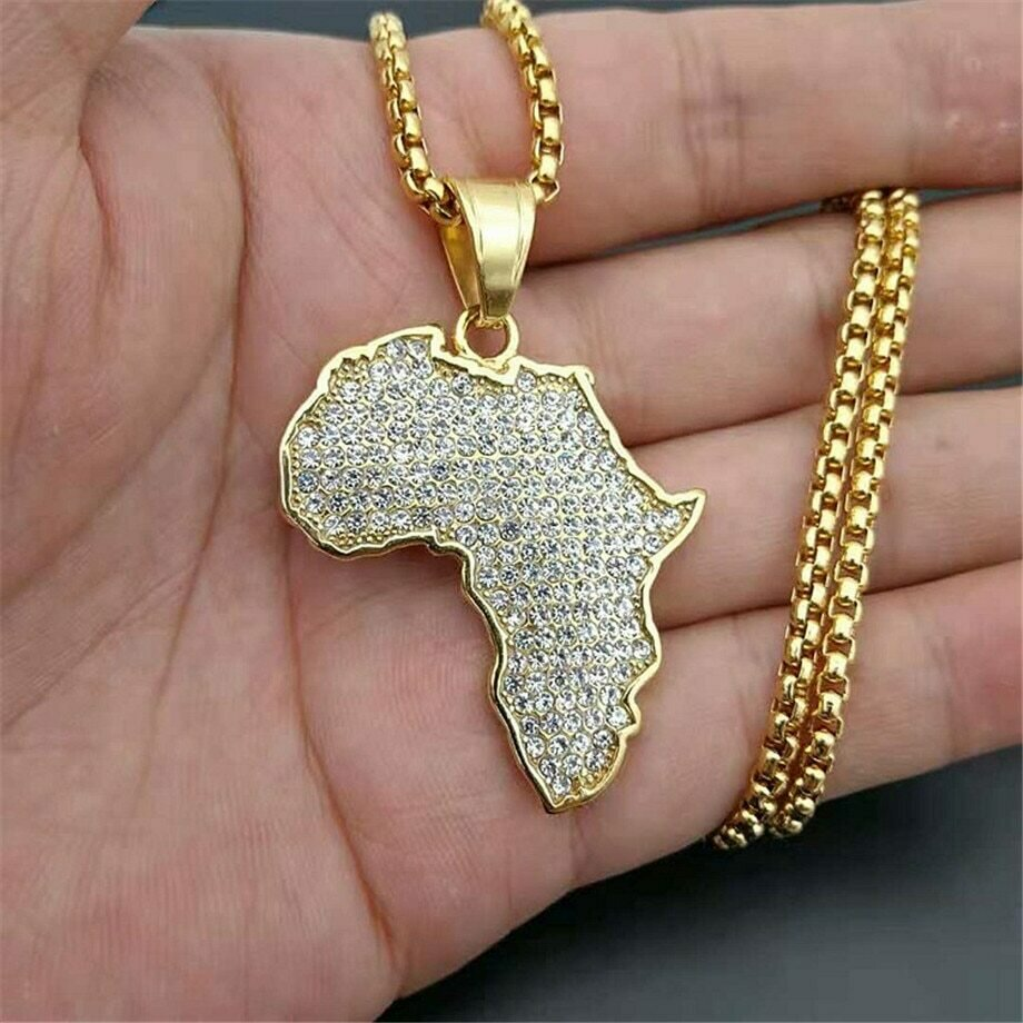 Necklaces Pendants Chain Ethiopian Jewelry Stainless-Steel Africa Women/men Gold-Color