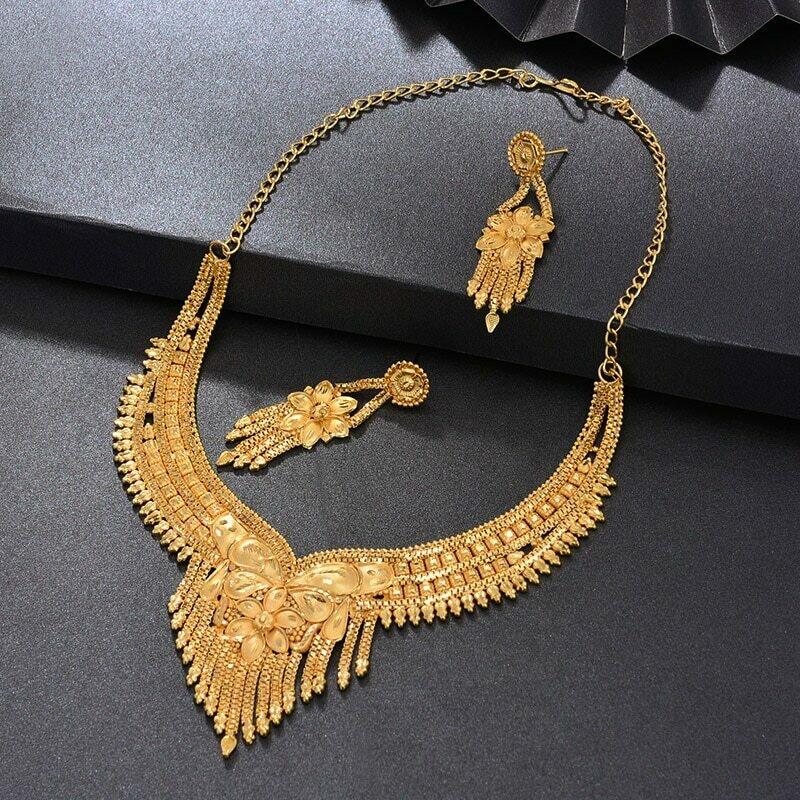 Jewelry-Set WANDO Ethiopian Dubai Bride Wedding-Gifts Gold-Color Nigeria Women Pendant/ring/for