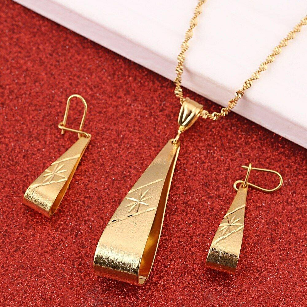 Ethiopian-Set Necklace Arab-Items Jewelry Dubai Pendant Africa Wholesale Fashion Women