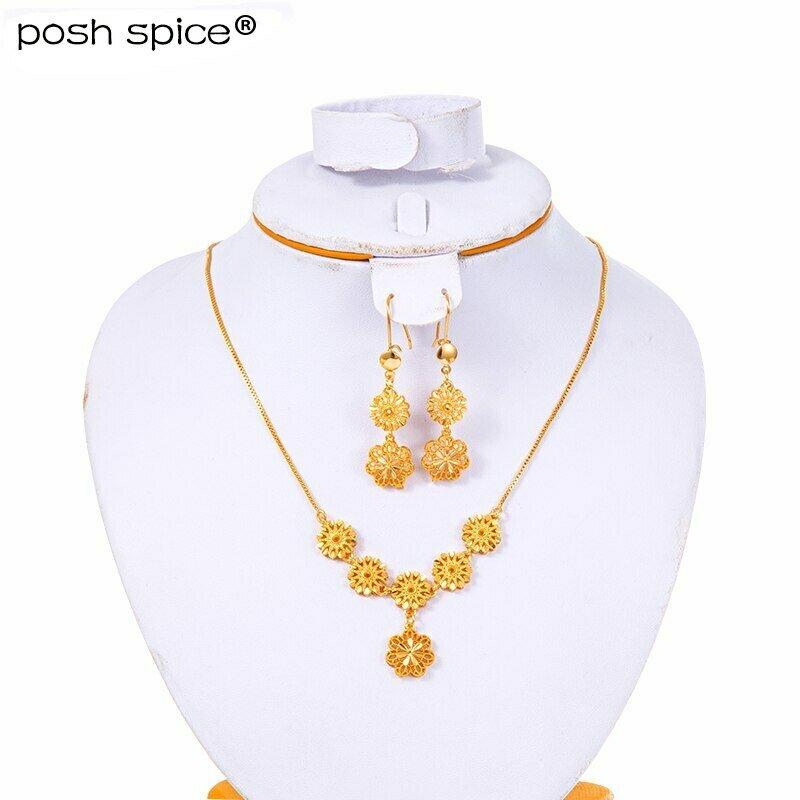 Jewelry-Sets Ethiopian-Dubai Bracelet/earrings-Sets Bridal-Dowry Gold-Color Women