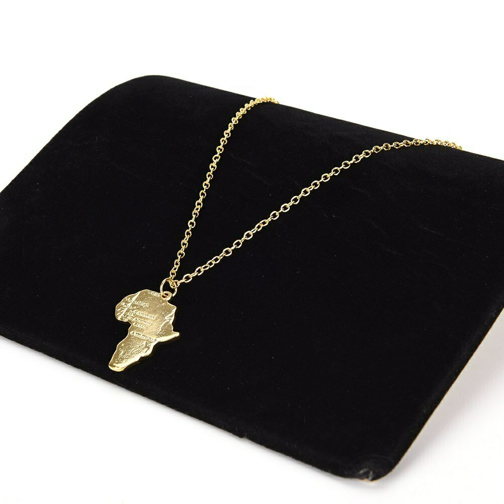 Africa Necklace Chain Pendant Ethiopian Jewelry Gift Gold-Color Men/women Trendy 2-Style