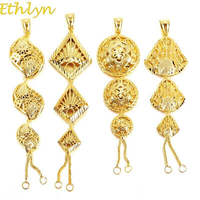 Pendant Gold-Color African Ethiopian/middle-east/Arab Ethlyn Vintage Personality Women's