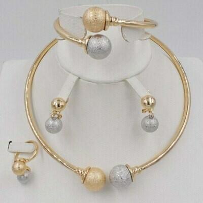 Jewelry-Sets Beads Crystal Rhinestone Dubai Gold Parure Nigerian Wedding-African