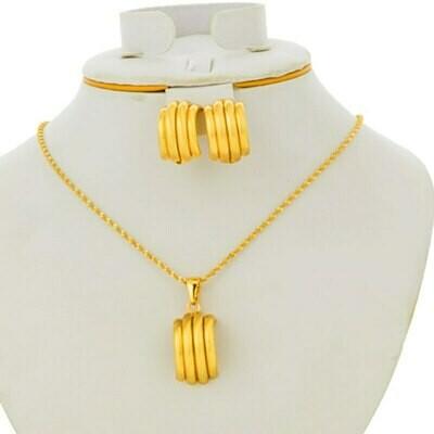 Earrings Jewelry-Sets Africa-Ethiopian-Statement Bridal Gold-Color Sudan/nigerian-Pendant