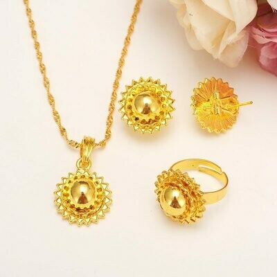 Jewelry Wedding-Set Sudan-Accessories Habesha Ethiopians-Style Gold-Plated Gift African