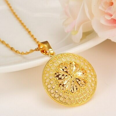 Necklaces Pendant Cuba/ethiopian Jewelry-Accessories Gold-Filled Women for Arab Best-Gift