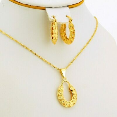 Jewelry-Sets Wedding-Gift Necklace Earrings Africa Nigerian Women Arab Jhplated