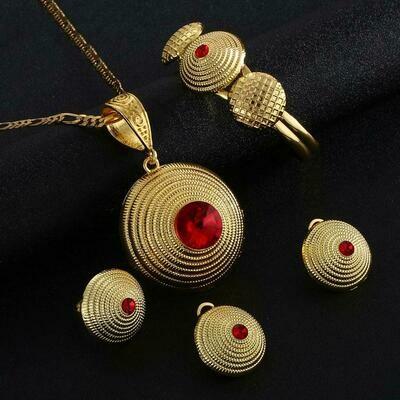 Wedding-Jewelry-Sets Necklace Earrings Pendant Habesha Ethiopian Ring-Bangle Eritrea
