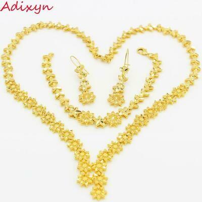 Bridal-Jewelry-Set Ethiopian Earrings/bracelet Gold-Color Nigeria/arabic-Items Luxury