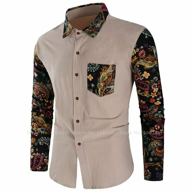 African Clothing Blouse Shirt Dashiki Bazin Patchwork Traditional Long-Sleeve Print Riche