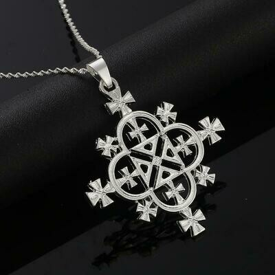 Necklace Women Ethiopian Cross-Pendants Jewelry Africa Fashion Eritrea-Habesha