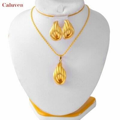Jewelry-Set Earrings Necklace Nigerian Women African And Wedding for of