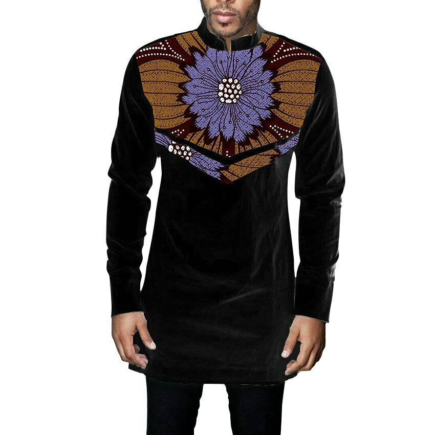 Patchwork Shirt African Tailor-Made Male New-Fashion Print Ankara Outfits