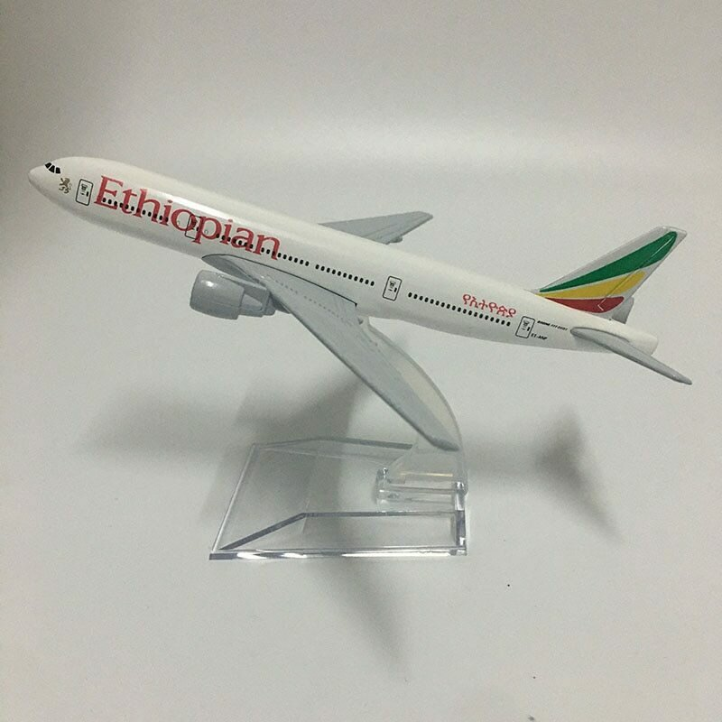 Ethiopian Airlines Aircraft-Model Airplane  Diecast Metal Boeing B777 1:400-Scale 16cm