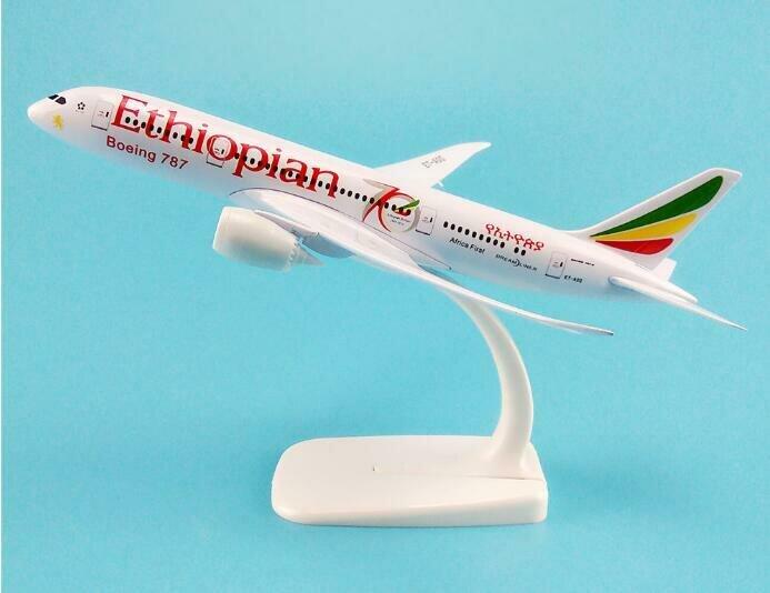 Metal-Model Aircraft Airlines Gift Boeing 787 Kids Airplane B787 20cm Airways Air-Ethiopian
