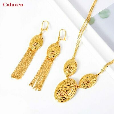 Jewelry-Sets Eritrean African Necklace Ethiopian Gold-Color Women