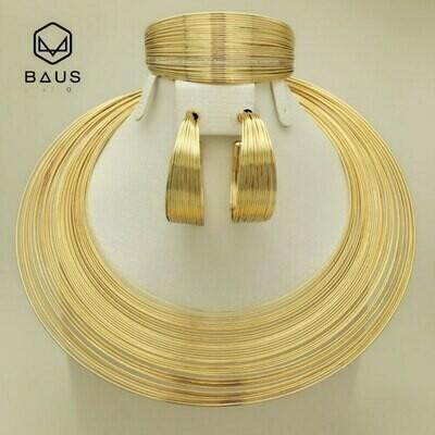 Jewelry-Set Ethiopian Dubai Arabic Gold African Beads Nigerian Wedding Indian Gold-Color