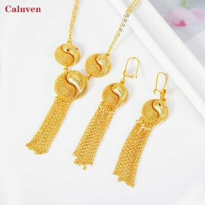 Jewelry-Sets Necklace Ethiopian Gold-Color African Women for Arabic